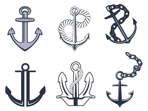 Zestaw symboli kotwicy