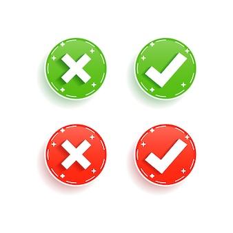 Zestaw symboli krzyża i znacznika wyboru