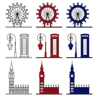Zestaw symboli londynu