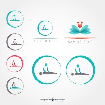 Zestaw symboli masażu