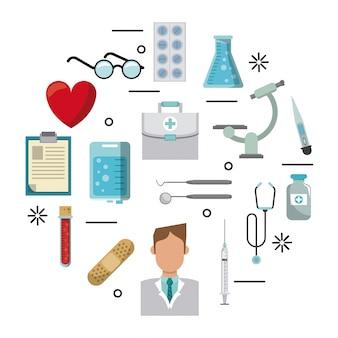 Zestaw symboli medycznych