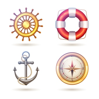 Zestaw symboli morskich