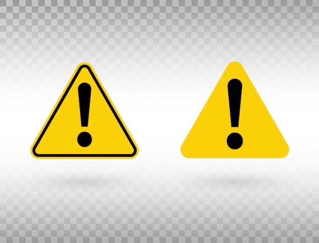 Zestaw symboli ostrzegawczych.