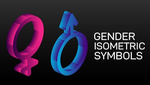 Zestaw symboli płci męskiej i żeńskiej