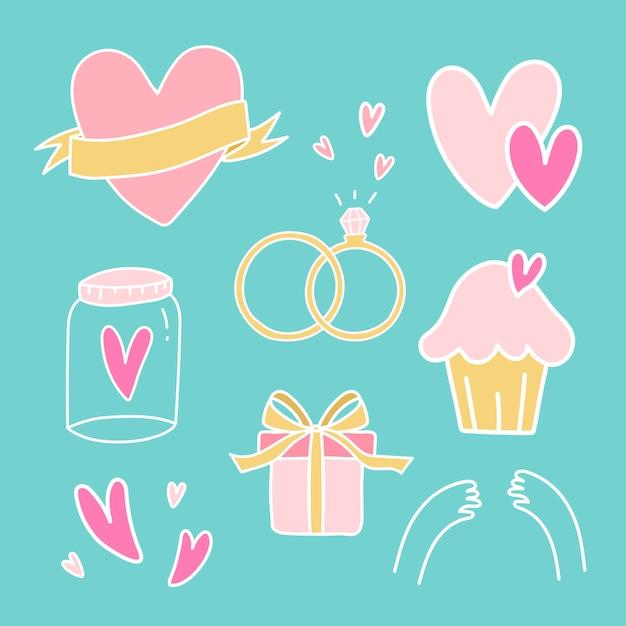 Zestaw symboli wektorowych miłości