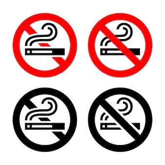 Zestaw symboli - zakaz palenia