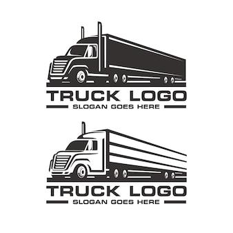 Zestaw szablon logo ciężarówki