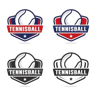 Zestaw Szablon Logo Tenis Premium Wektorów