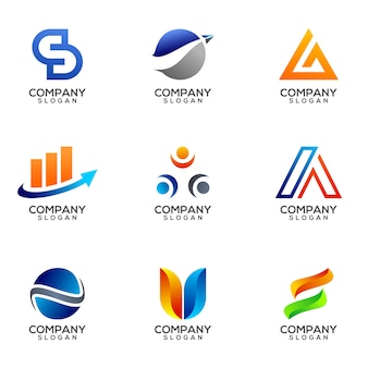 Zestaw szablon wektor biznes logo projektu