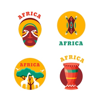 Zestaw szablonów afrykańskich logo