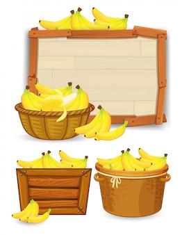 Zestaw szablonów bananów