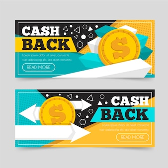 Zestaw szablonów banerów cashback