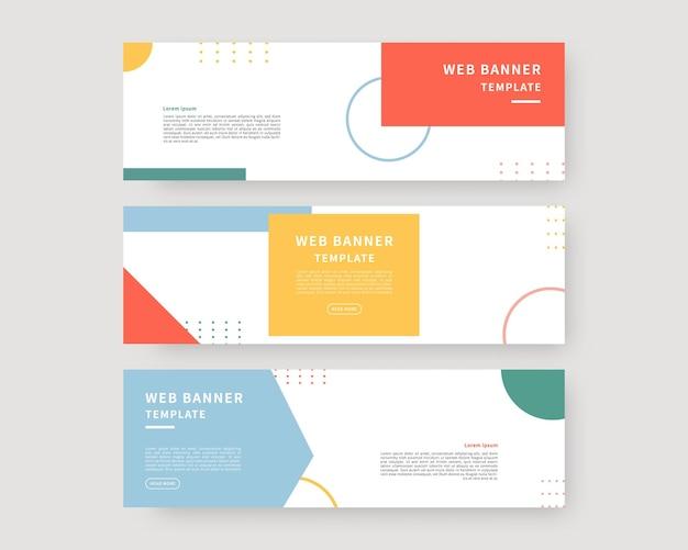 Zestaw szablonów banerów internetowych kolekcja poziomych bannerów projektowych ilustracja wektorowa