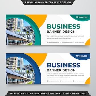 Zestaw szablonów banerów internetowych