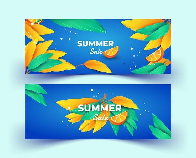 Zestaw szablonów banerów letnich