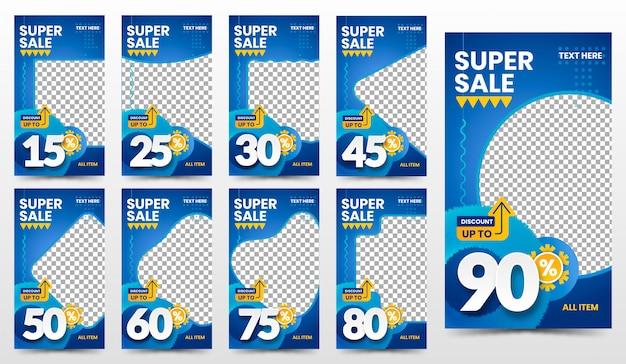 Zestaw szablonów banner promocja super sprzedaż