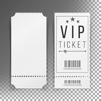Zestaw szablonów biletów