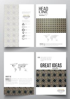 Zestaw szablonów biznesowych dla broszury, ulotki, raport.
