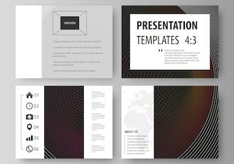 Zestaw szablonów biznesowych dla prezentacji slajdów.