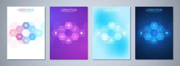 Zestaw szablonów broszur lub okładek książek