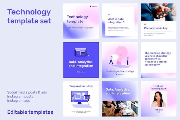 Zestaw szablonów do edycji technologii