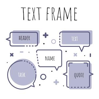 Zestaw szablonów do tekstu w stylu akwareli.