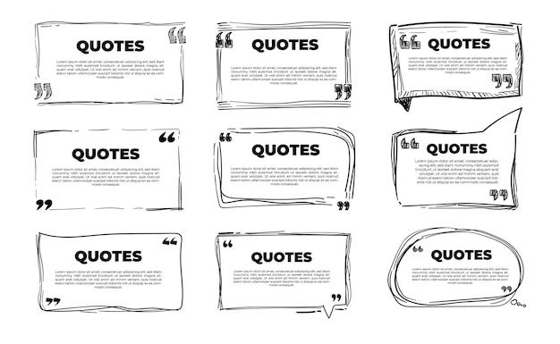 Zestaw szablonów elementów cytatów na plakat