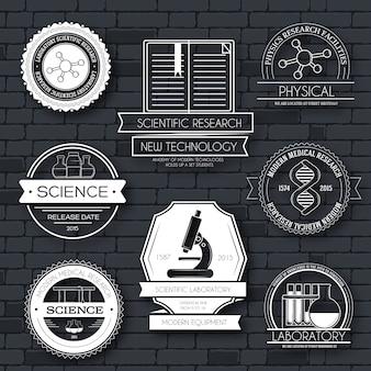 Zestaw szablonów etykiet nauki.