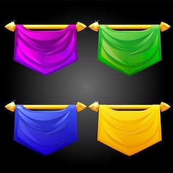 Zestaw szablonów kolorowych flag.