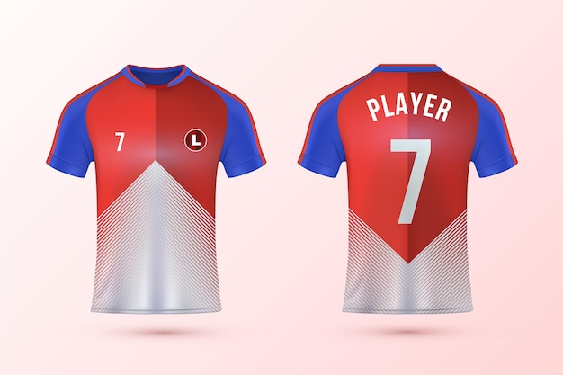 Zestaw szablonów koszulek piłkarskich