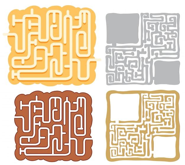 Zestaw szablonów logiczne maze