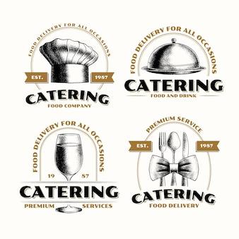 Zestaw szablonów logo cateringu