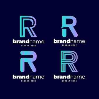 Zestaw szablonów logo gradientu r