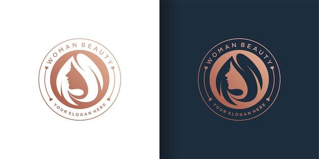 Zestaw szablonów logo kobiety