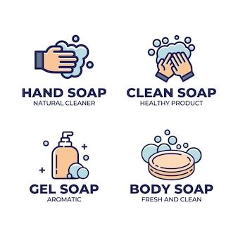 Zestaw szablonów logo kreatywnych mydła
