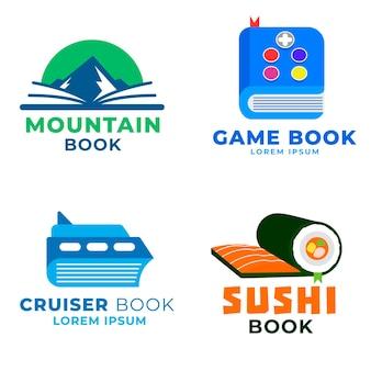 Zestaw szablonów logo książki