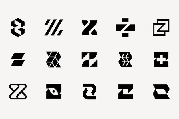 Zestaw szablonów logo litery z