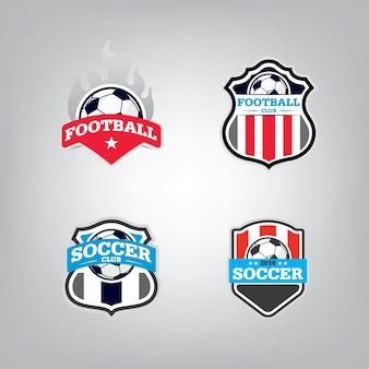 Zestaw szablonów logo piłki nożnej.