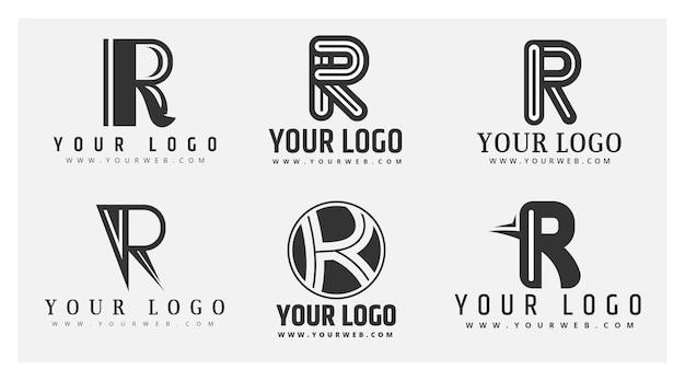 Zestaw szablonów logo płaski r