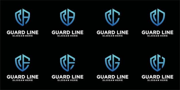 Zestaw szablonów logo tarczy