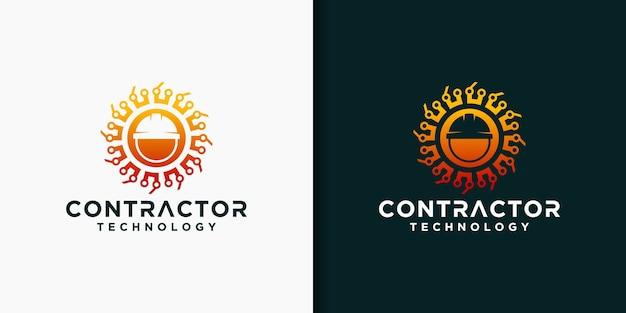 Zestaw szablonów logo wykonawcy