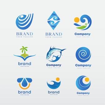 Zestaw szablonów logotypów, inspiracja tożsamością