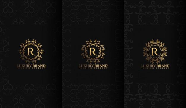 Zestaw szablonów luksusowych opakowań