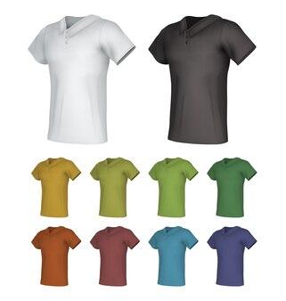 Zestaw szablonów męskiej koszulki polo.