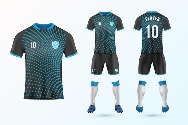 Zestaw szablonów mundurów piłkarskich