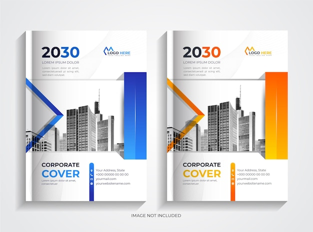 Zestaw szablonów nowoczesnych firmowych okładek książek
