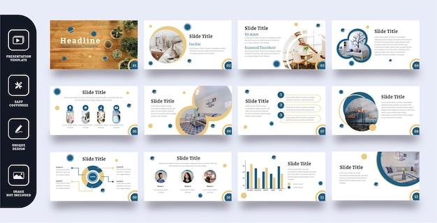 Zestaw szablonów prezentacji slajdów streszczenie mebli