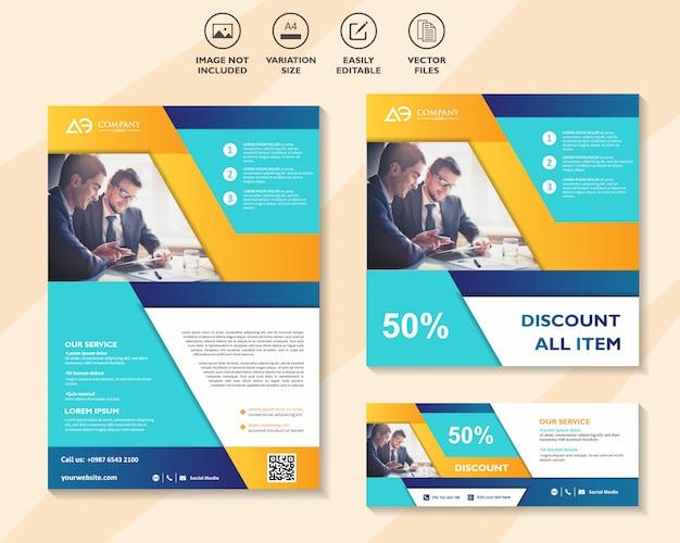 Zestaw szablonów projektów biznesowych dla sieci rozwiązań mobilnych marketingu cyfrowego