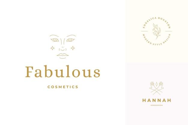Zestaw szablonów projektów emblematów logo linii
