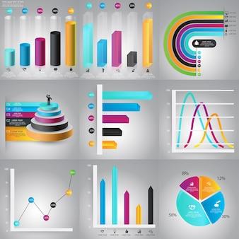 Zestaw szablonów projektu infografiki